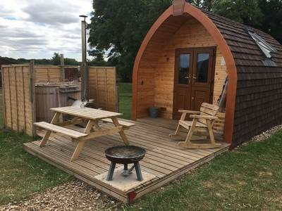Tommy glamping pod at Bracken Burrows