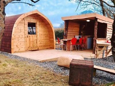 Glamping Pod at Tregroes Caravan Park