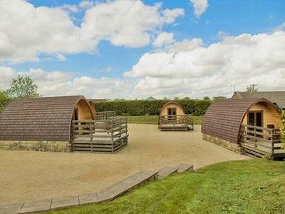 Mega Glamping Pod at Upwood Holiday Park