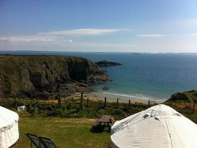 Limpet Yurt Glamping at Caerfai Farm