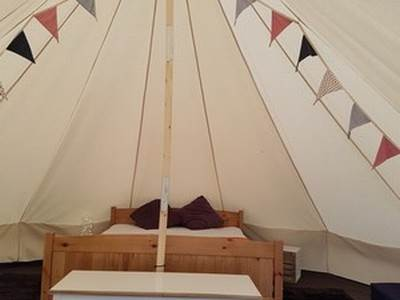 Bell Tent Glamping at Lordstones Campsite