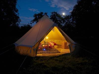 Swan Bell Tent at The Orchard Getaway