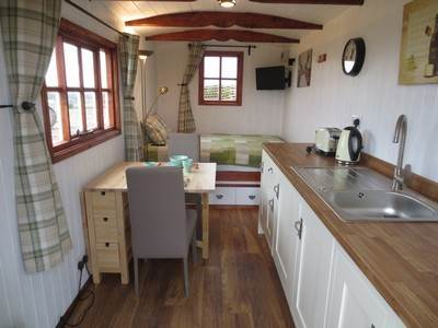 Shepherds Hut Glamping at Welltrough Hall Farm