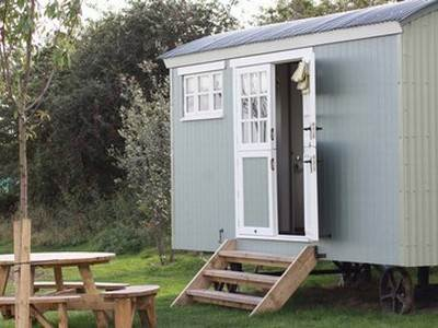 Shepherd's Hut Glamping at Osea Leisure Park