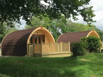 En-suite Glamping Pod at Osea Leisure Park