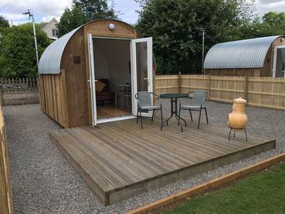 Luxury Glamping Ark at Greenway Farm