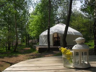 Bluebell Yurt at Woodlands Farm