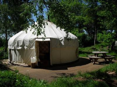 Valley Yurt at Woodlands Farm