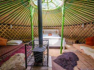 The Oak Yurt at Woodlands Farm