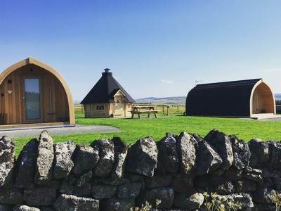 Owl & Curlew (sleeps 5) at GlamPods Northumberland