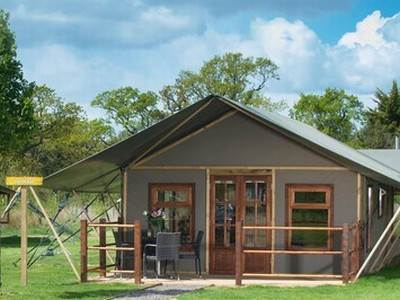 Crealy Safari Tents with Wood Burning Stove