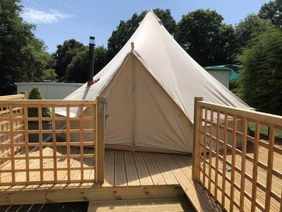 Bluebell Tent at Brakes Coppice Park