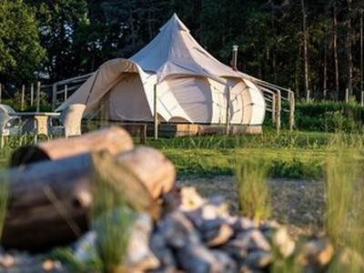 Oak! Luxury 6m Lotus belle tent by swimming pond