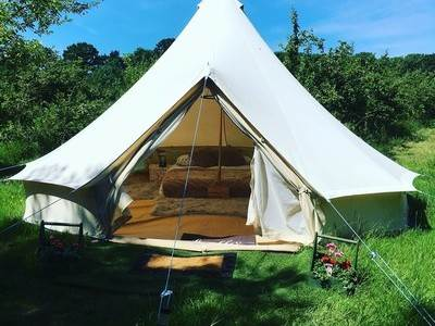 Traditional Bell Tent Glamping at The Apple Farm
