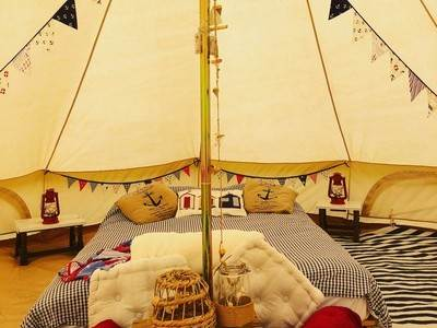 Sail Away Bell Tent at Gooseberry Field