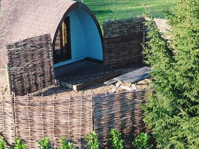 Family Garden Camping Pod at Sumners Ponds
